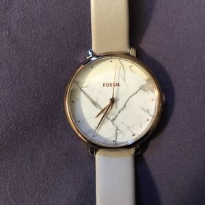 Fossil watch with marble face